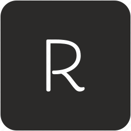 key, keyboard, letter, r, uppercase icon