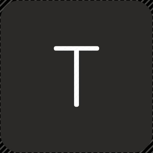 key, keyboard, letter, t, uppercase icon