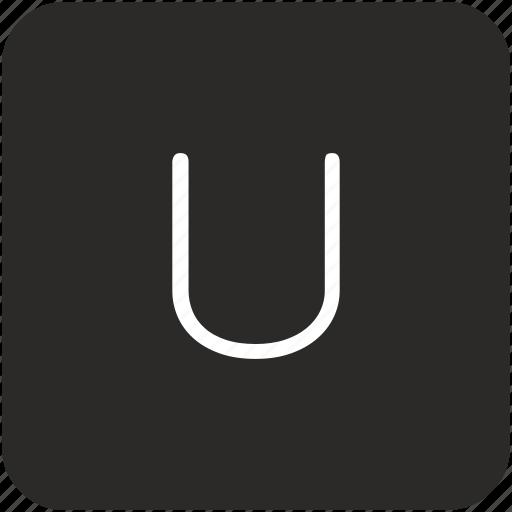 key, keyboard, letter, u, uppercase icon