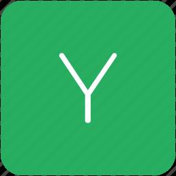 green, key, keyboard, letter, y icon