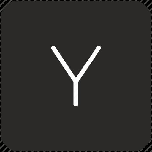 key, keyboard, letter, uppercase, y icon
