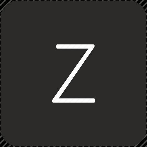 key, keyboard, letter, uppercase, z icon