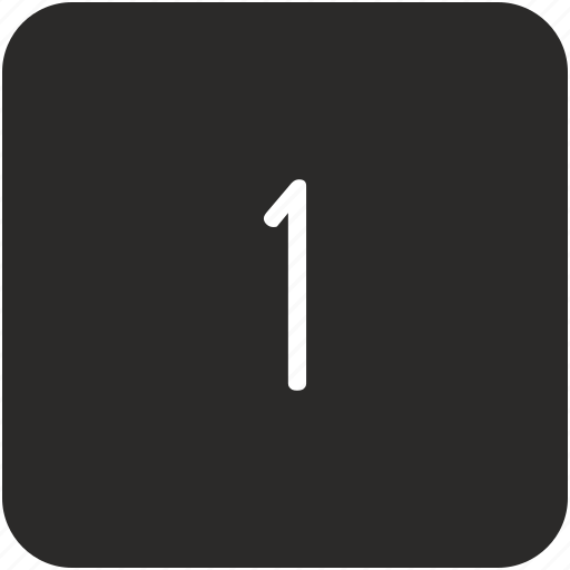 first, key, number, one, uppercase icon