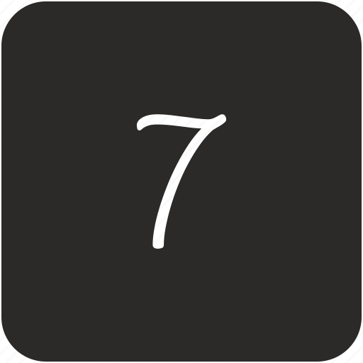 keyboard, number, seven, uppercase icon
