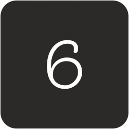 keyboard, number, six, uppercase icon