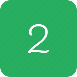 green, key, number, two icon
