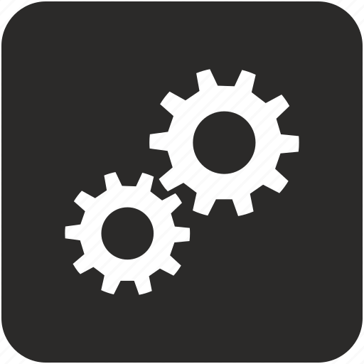 details, engine, gear, settings icon