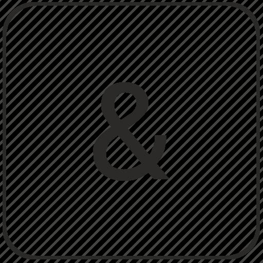 ampersand, element, keyboard, logic, sign, virtual icon