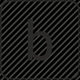 alphabet, b, keyboard, latin, lowcase, virtual icon