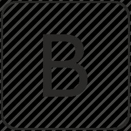 alphabet, b, keyboard, latin, letter, virtual icon