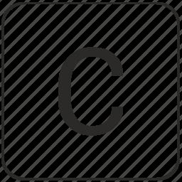 c, keyboard, latin, letter, text, uppercase, virtual icon