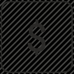 atm, cash, dollar, keyboard, money, usd, virtual icon