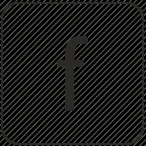 alphabet, f, keyboard, latin, letter, lowcase, virtual icon