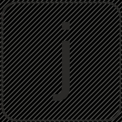 j, keyboard, latin, letter, lowcase, virtual icon