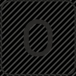 alphabet, latin, letter, o, uppercase icon