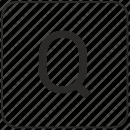 keyboard, latin, letter, q, uppercase, virtual icon