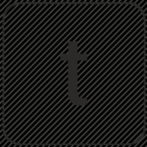 alphabet, keyboard, latin, lowcase, t, virtual icon