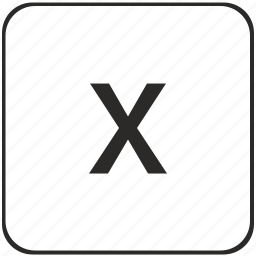 alphabet, keyboard, latin, letter, virtual, x icon