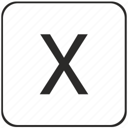 alphabet, keyboard, latin, uppercase, virtual, x icon
