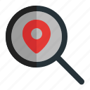 find, gps, location, map, navigation, place icon
