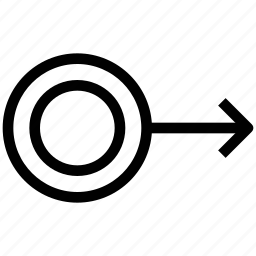 arrow, crosshair, direction, way icon