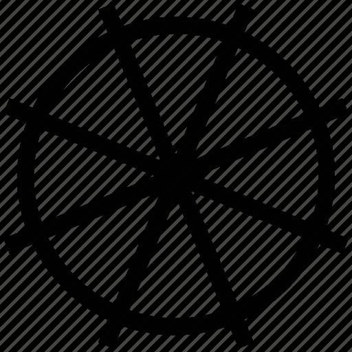 bicycle wheel, wheel, wheelset, wire wheel icon