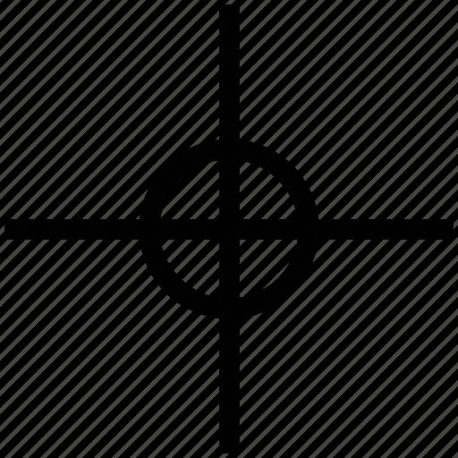 crosshair, crosshair reticle, focusing, point, reticle, target icon