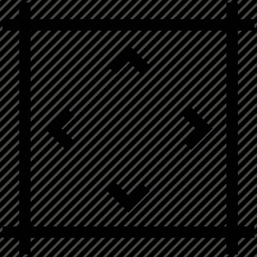 arrows key, directional arrows, directions, maximize, minimize icon