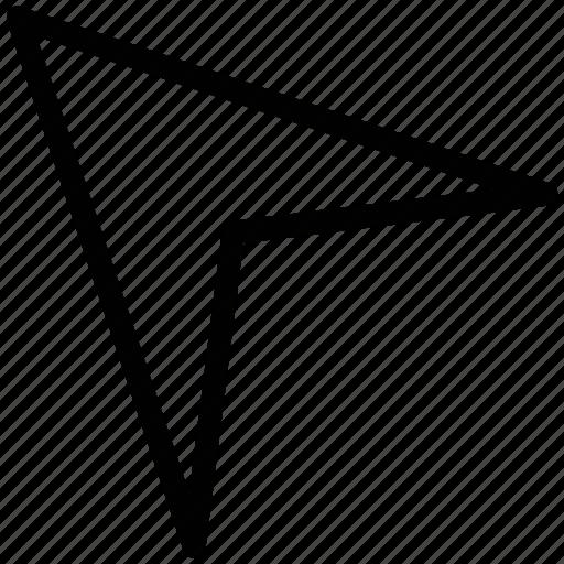 arrow, cursor, left up, location arrow, mouse pointer, pointer icon