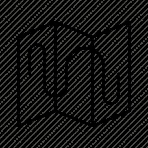 location, map, marker, navigation, path, pin, way icon
