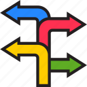 -turn, arrow, direction, left, right, sign, turn icon