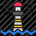 -lighthouse, beach, beacon, lighthouse, ocean, sea icon