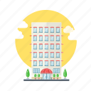 apartment, building, hotel, lodgment icon