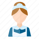 avatar, service, user, waiter, women icon