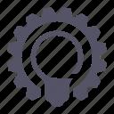 idea, lamp, process icon