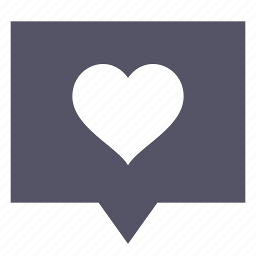 Bubble, chat, love, message icon - Download on Iconfinder