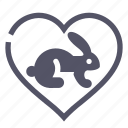 animal, heart, love, rabbit icon