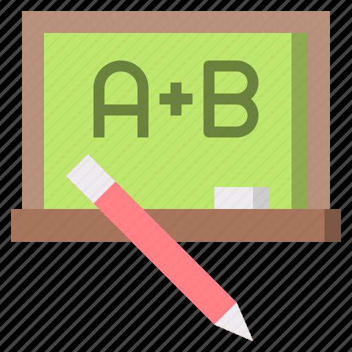 blackboard, class, cultures, education, eraser, maths, school icon
