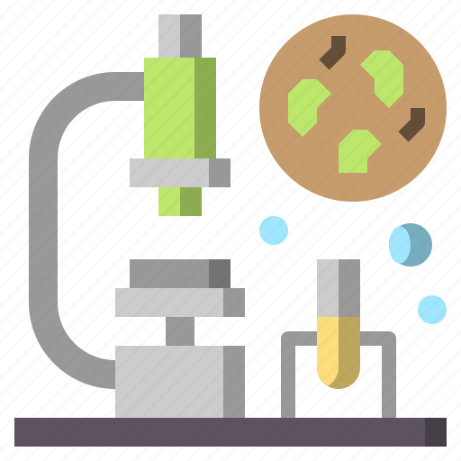 and, medical, microscope, observation, science, scientific, tools icon