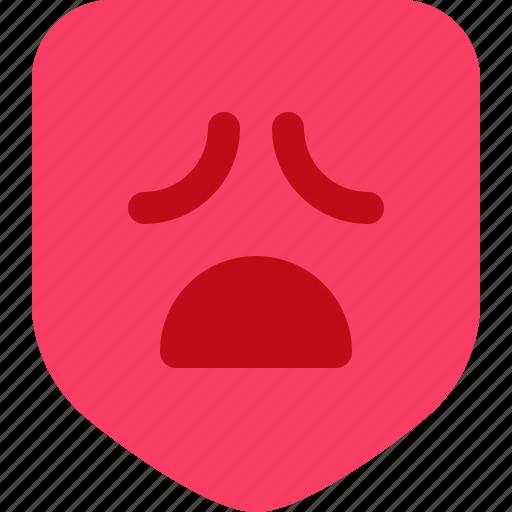 drama, emotion, face, mask, sad icon