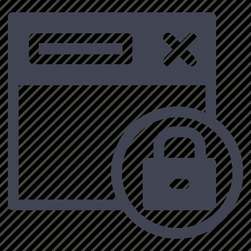 browser, internet, lock, locked, web, webpage icon