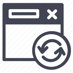arrow, arrows, browser, network, refresh, web, webpage icon