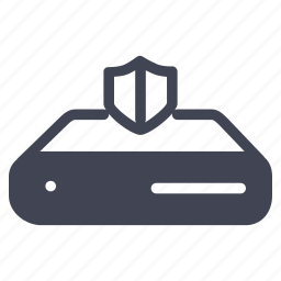 network, safety, security, server, shield icon