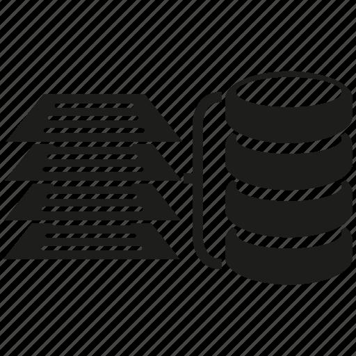 data, document, information, network, server, storage icon