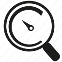 search, speedometer icon