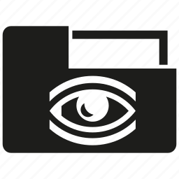 data, eye, file, folder, scan icon