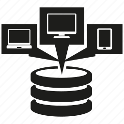 computer, database, device, network, phone, server icon