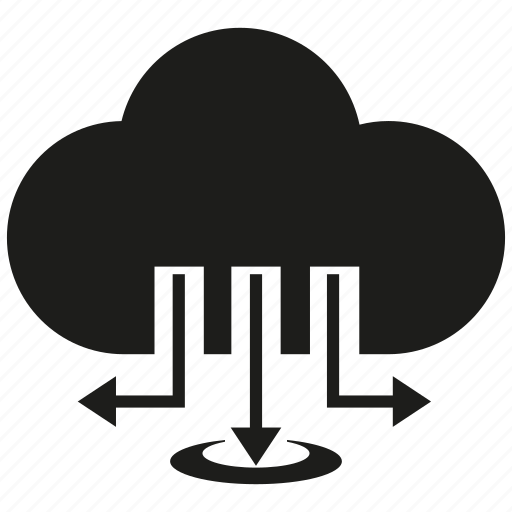 cloud, cloud computing, download, network icon