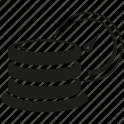 backup, database, server, speedometer icon