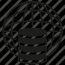 database, global, globe, network, server